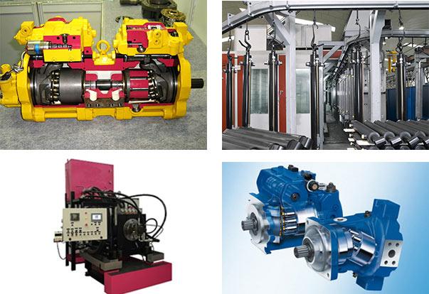 reparacion bombas, motores, cilindros hidraulica